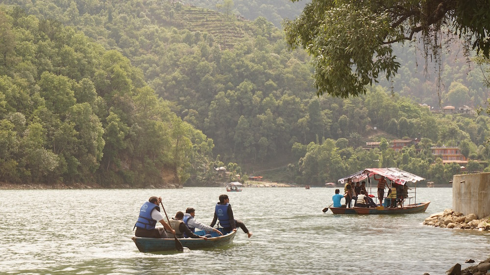 Boating at Phewa Lake