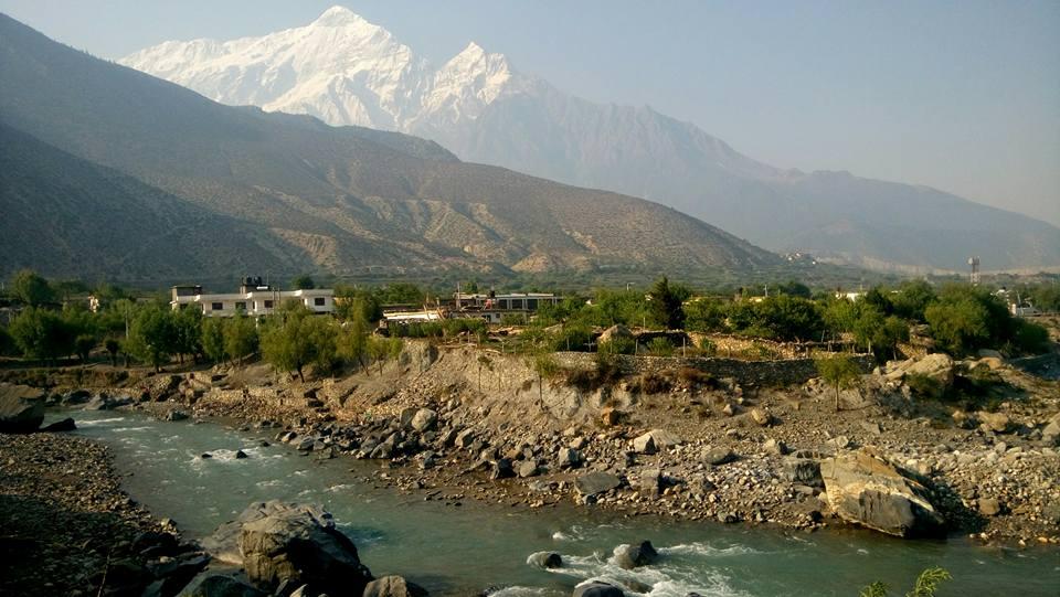 Nilgiri Mountain with Kali Gandaki River, Jomsom