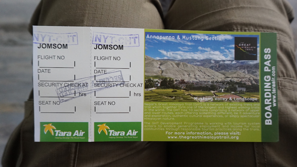 Tara Air Ticket, without seat numbers