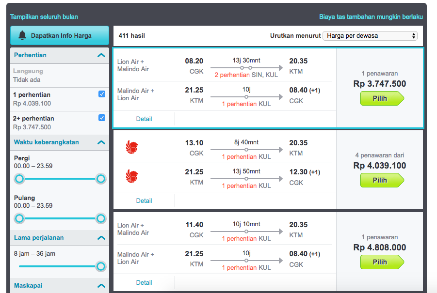 skyscanner ticket searching