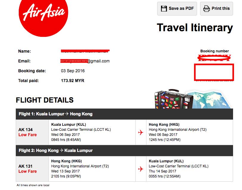 Air Aisa Promo Hongkong
