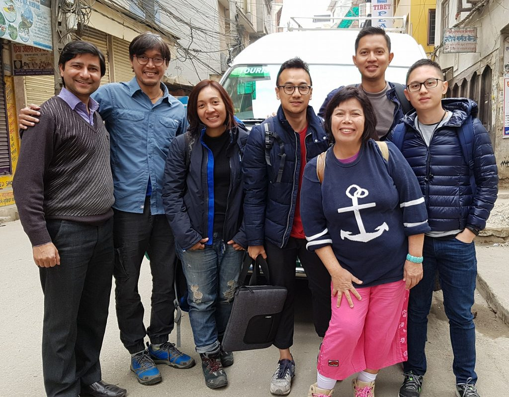 At Thamel with Ram our Guide
