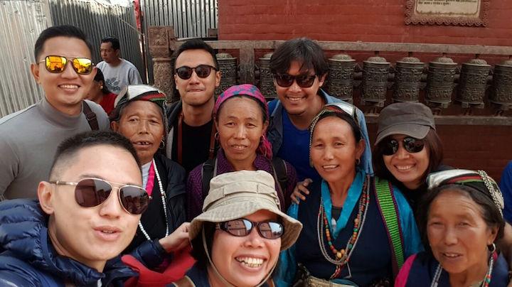 We were toghether at Swayambhu