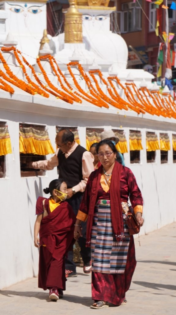 Mother and Daughter at Boudhanath