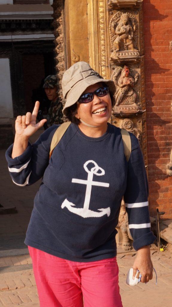 Mba Diana at Bhaktapur Durbar Square