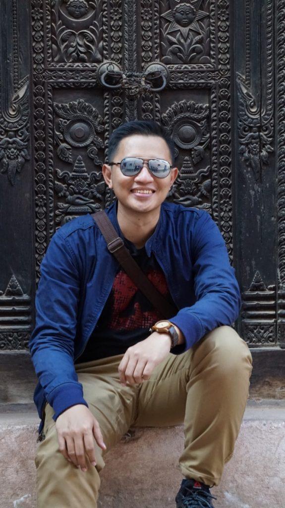 Mas Arman at Bhaktapur Durbar Square