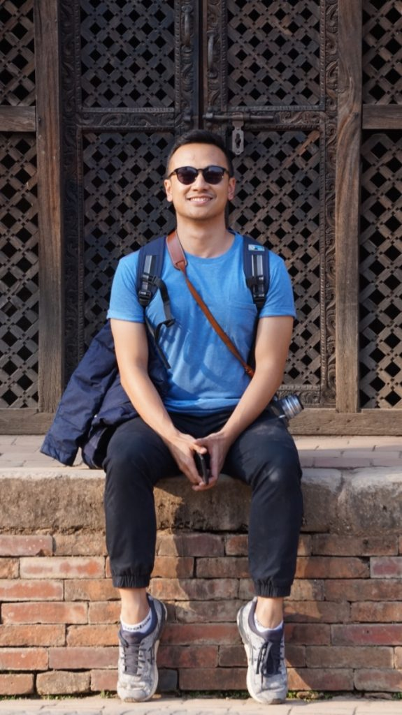 Rizki at Bhaktapur Durbar Square